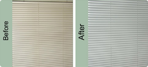 blind cleaning before & after