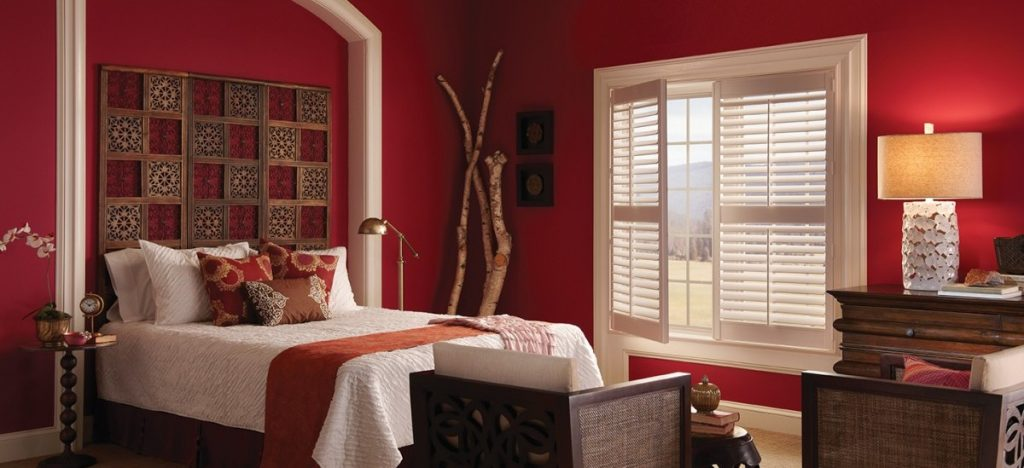 white traditional shutters